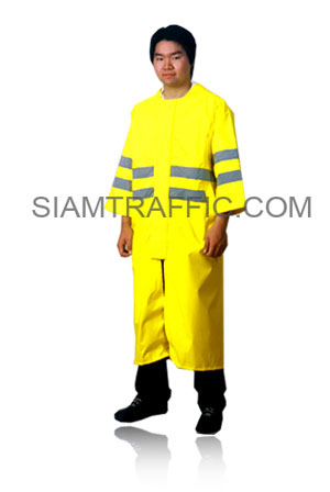 STF Plastic Raincoat Type A : Gown (from head to ankle) : light green