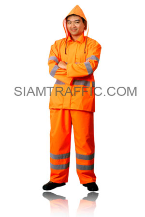 STF Raincoat Type C : Suit and Pant : orange