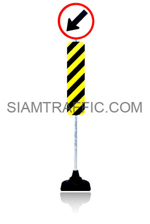 Traffic Post Large Size with Traffic Sign or Safety Sign