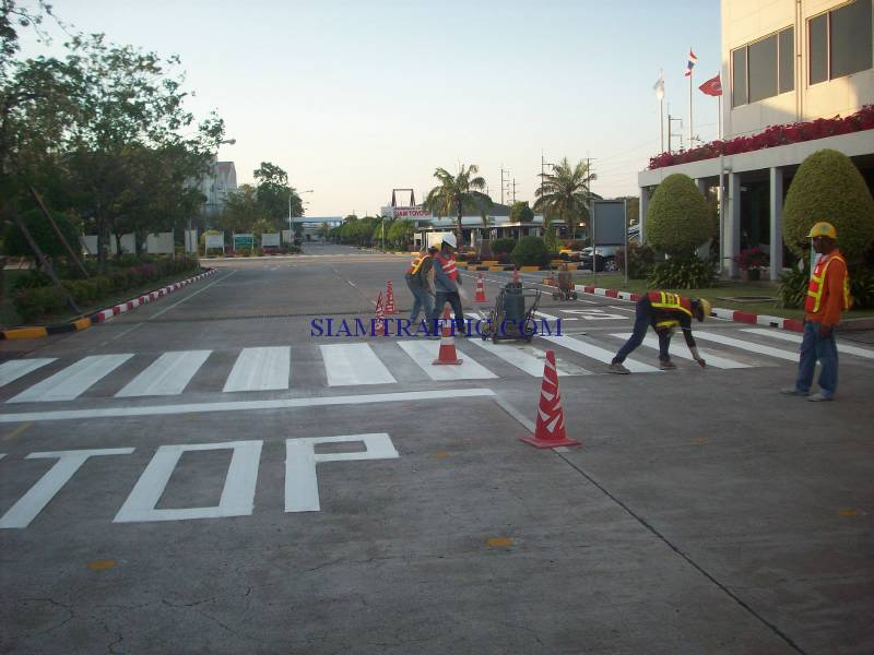 Thermoplastic Marking : Road marking service in toyota factory