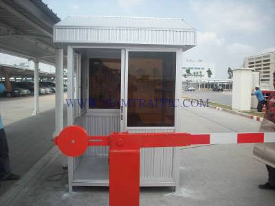 Manual traffic barrier and guard house at  Toyota Bangbo