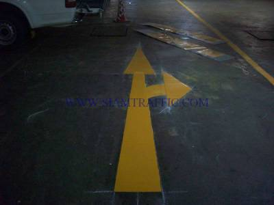 Thermoplastic road marking service at All  Season Place