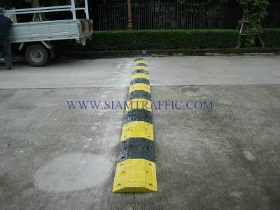 Installation of rubber speed bump