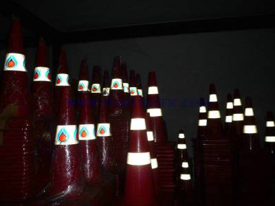 Traffic cone attached with reflective sticker engineer grade 5 years