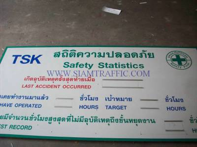 ป้ายเซฟตี้ ป้ายสถิติความปลอดภัย Safety Statistic