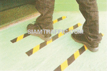 Non Slip Tape : black alternate yellow