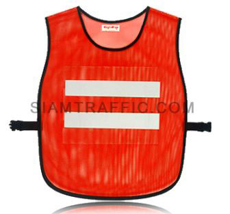 Safety vest : Full color-less cover with side opening (SWA), using snap locks or sliding belt. Free size.