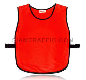 Reflective safety vest : Full collor-less cover with side opening (SWD), using snap locks or sliding belt. Free size.