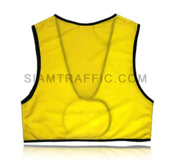 Safety vest : Front opening, high waist (SWF), using attaching nylon strips. Free size.