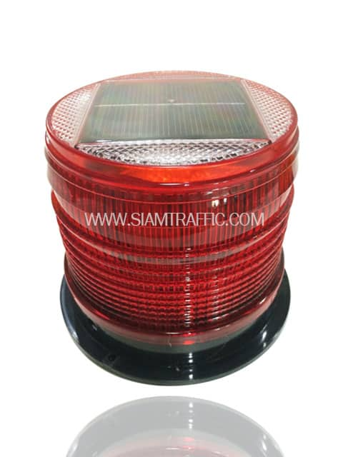 Solar flashing light red