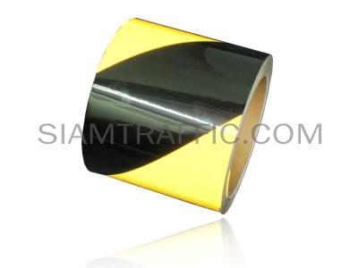 เทปติดพื้น สลับสีสะท้อนแสงเหลืองดำ