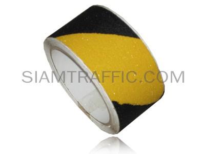 เทปกันลื่น สีดำสลับสีเหลือง