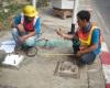 งานซ่อมป้ายจราจร ป้ายบอกทางขึ้นทางด่วน และโครงเหล็ก