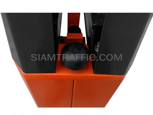 Manual barrier gate red-white