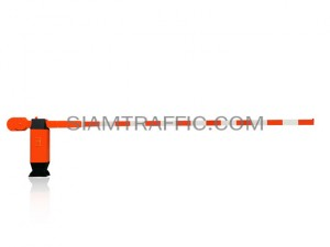 Manual traffic barrier red-white