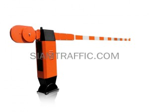 Manual boom barrier