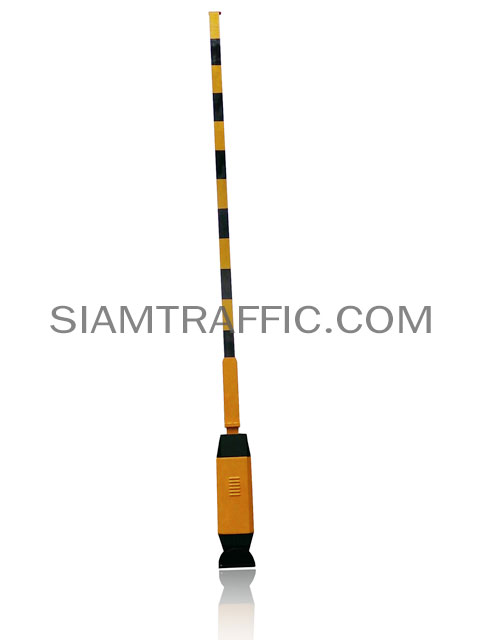 Manual boom barrier  black-yellow