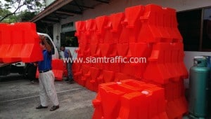 Plastic barrier and traffic cone
