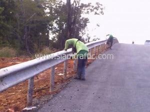 Guard rail at Chumphon Highway