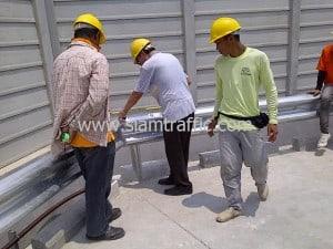 Crash barrier at Nissan Motor Thailand