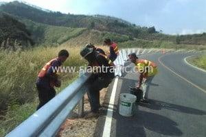 Guard rail Phrae Highway District