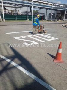 Road marking paint Siam Toyota Amata Nakorn