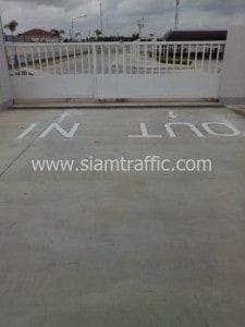 Road marking at Thai Dec Factory