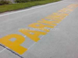 Road painting at Toyobo Chemicals Thailand