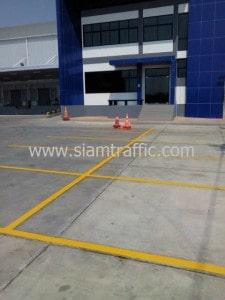 Line road marking WHA Mega Logistic Center Bang Phli