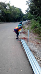 Guard rail at Phetchabun