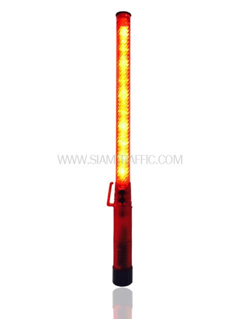 กระบองไฟกระพริบแบบยาวสีแดง สัญญาณไฟกระพริบสีแดง
