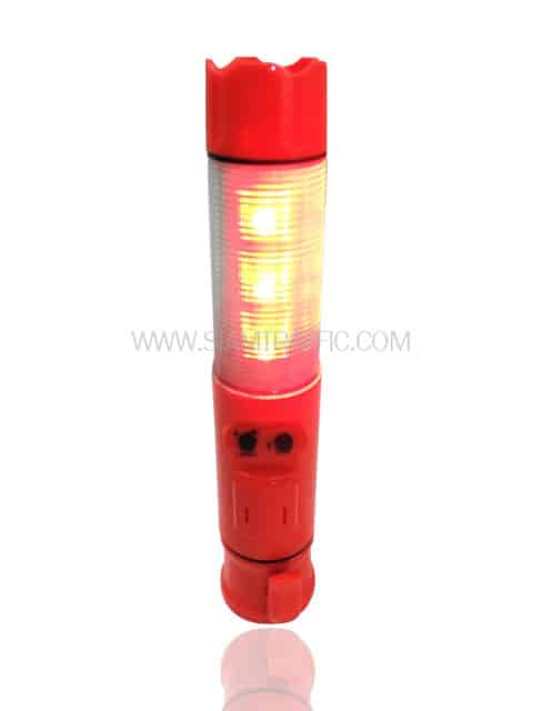 Traffic safety baton light with siren sound