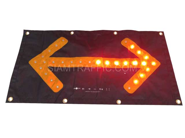 led arrow traffic direction sign