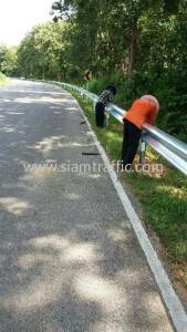 W-Beam guardrail Sukhothai Highways District