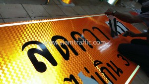 Construction Warning Sign and Traffic Cone