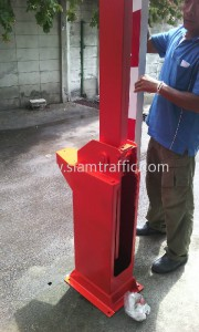 Gate arm barrier at Rajadamnern Boxing Stadium
