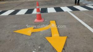 Road marking at BOSCH Rayong Province