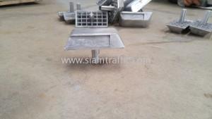 Barcode aluminium road stud