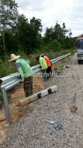 Highway guard rail Lampang highway district
