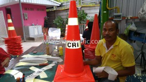 Orange road cone cri