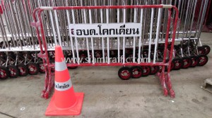 Steel barrier and safety cone Khokkhean Subdistrict Administrative Organization