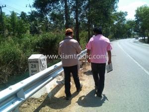 W beam guard rail Prajuab Kirikhan Huahin Highway District
