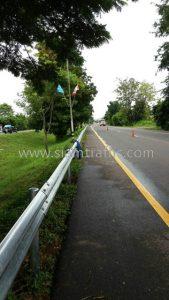 Galvanized guard railing w beam Nong Ki to Nang Rong Buri Ram highway