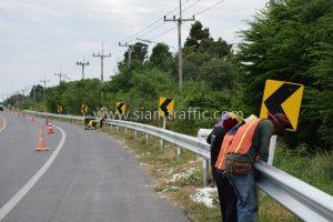 Guard rail Khlong Dan to Chachoengsao No.3 Chachoengsao Highway