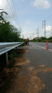 Hot dipped galvanized road guard rail Chachoengsao to Sametnua 304 Chachoengsao Highway