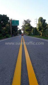 Line marking thermoplastic Sawankhalok to Si Satchanalai Sukhothai Province