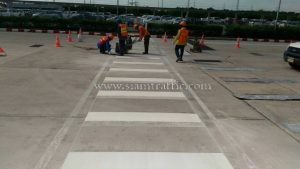Line road marking service Toyota Motor Thailand Ban Pho Plant