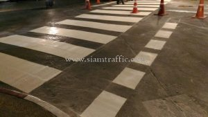 Preformed thermoplastic road markings Shangri La Hotel Bangkok