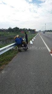 Road guard rail Nong Kham to Pattaya Intercity Motorway