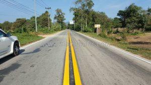 Thermoplastic road marking Rong Kwang to Huai Kaet Phrae Highway